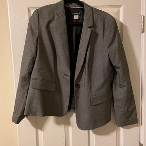 Grey & white suit jacket